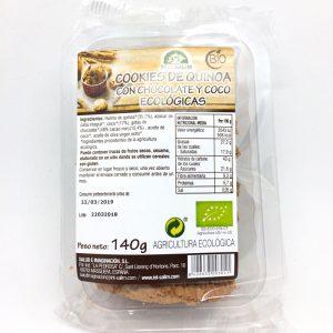 Cookies de quinoa con chocolate y coco bio 140gr Eco Salim