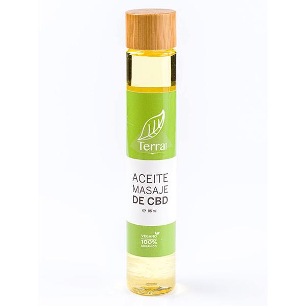 Aceite masaje de CBD de TerraCBD
