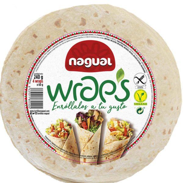 Wraps sin gluten vegano Nagual
